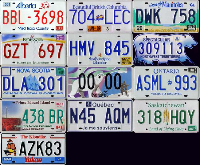 canadian plates