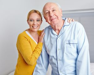 Caregiver and male patient