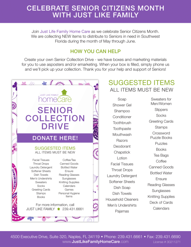 JLF - 2015 Senior Collection Drive Flyer - 8.5x11-1