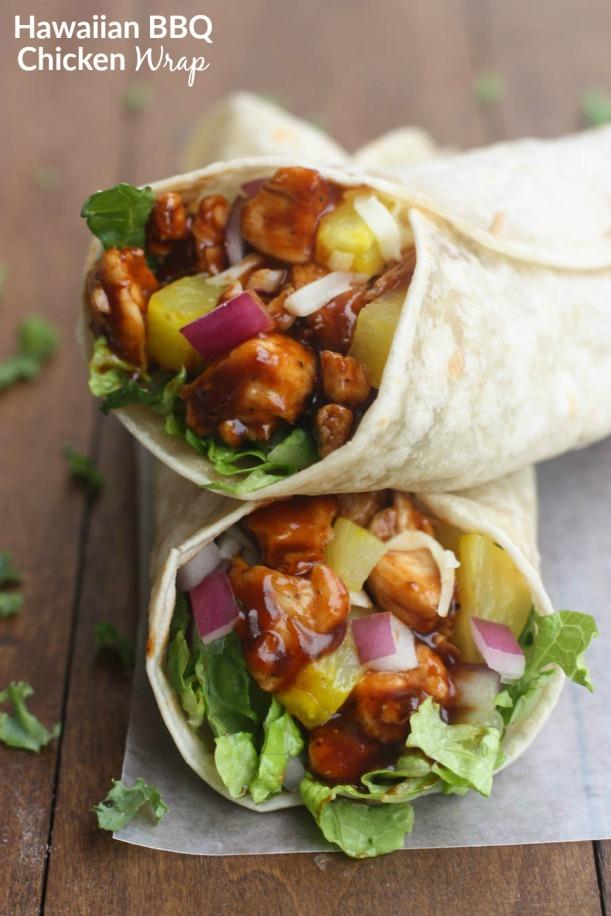 Hawaiian-BBQ-Chicken-Wraps-1